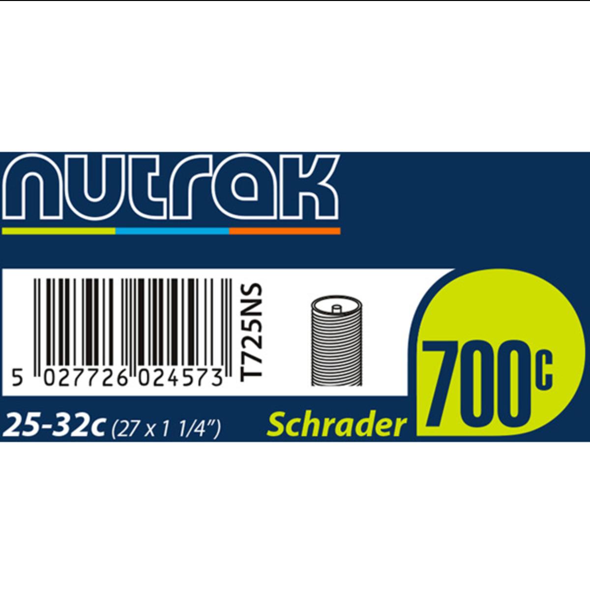 Nutrak 700x25-32c Schrader Valve Inner Tube | Tubes